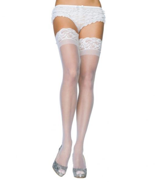 Leg Avenue Stay Up Sheer Thigh Hold Ups Red