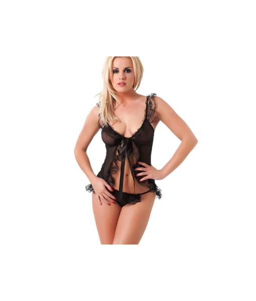 Babydoll And G-String Black